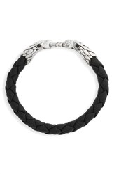 John Hardy Men's Legends Eagle Double Head Bracelet Silver Black