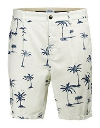 Jack And Jones Regular Fit Linen Blend Chino Shorts White