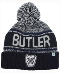 Top Of The World Butler Bulldogs Acid Rain Pom Knit Hat Heather Gray Black Navy