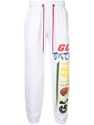 Gcds Branded Jersey Trousers White