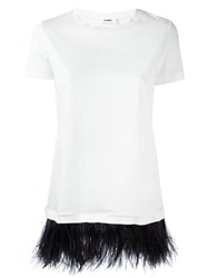 Jil Sander Feather Embellished T Shirt White