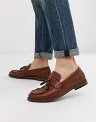 New Look Faux Leather Tassel Loafers In Tan