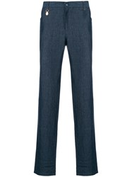 Billionaire Classic Straight Trousers Blue