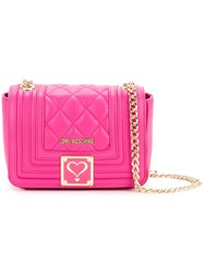 Love Moschino Quilted Crossbody Bag Women Polyurethane One Size Pink Purple