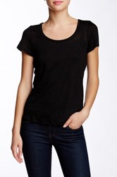 Weston Wear Bree Linen Blend Scoop Neck Tee Black