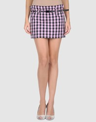 Emily The Strange Skirts Mini Skirts Women Light Purple