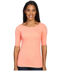 The North Face Long Sleeve Flashdry Pocket Tee Feather Orange Heather Women's Long Sleeve Pullover