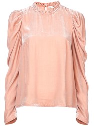 Ulla Johnson Velvet Blouse Pink