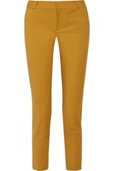 Raoul Cotton Blend Skinny Pants Yellow