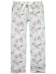 Fat Face Floral Classic Lounge Trousers Chambray