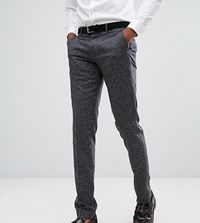 Farah Tall Skinny Wedding Suit Trousers In Fleck Charcoal Grey