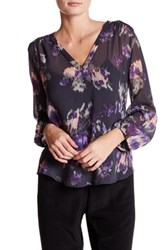 Joie Axcel Sheer Tunic Blouse Gray