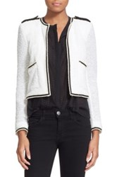 The Kooples 'Summer' Cotton Blend Knit Jacket White