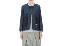 Tim Coppens Women's Embroidered Denim Jacket Blue