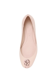 Alexander Mcqueen 10Mm Sequined Skull Leather Ballerinas Nude