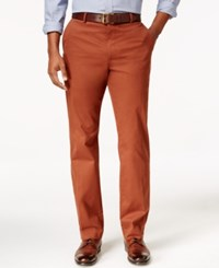 Tasso Elba Men's Regular Fit Pants Spiced Cider