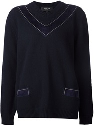 Derek Lam V Neck Sweater Blue
