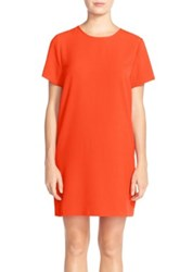 Felicity And Coco Crepe Shift Dress Red