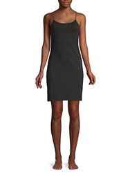 Saks Fifth Avenue Sleeveless Slip Dress Black
