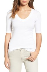 Splendid Women's Deep V Half Sleeve Tee