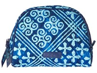 Vera Bradley Medium Zip Cosmetic Cuban Tiles Luggage Blue