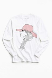 Urban Outfitters Lady Gaga Sketch Long Sleeve Tee White