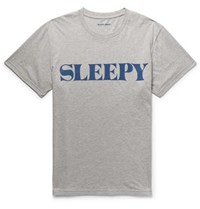 Sleepy Jones Jackson Logo Print Cotton Jersey T Shirt Gray