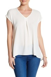 Spense Cap Sleeve Pleat Blouse White