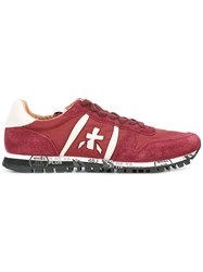Premiata Lace Up Sneakers Men Leather Nylon Rubber 43 Red
