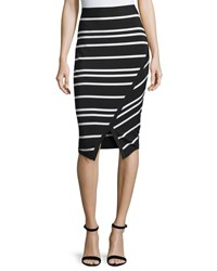 Ted Baker Petulia High Waist Striped Midi Skirt Black