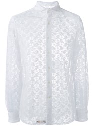 Gabriele Pasini Lace Detail Shirt White