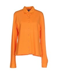 Jeans Les Copains Shirts Shirts Women Orange