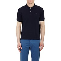 Comme Des Garcons Play Men's Heart Patch Polo Shirt Navy