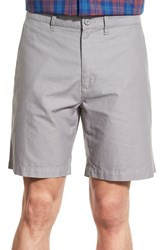 Men's Patagonia Flat Front Woven Organic Cotton And Hemp Shorts Feather Grey