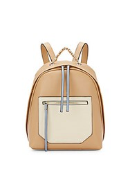 Christopher Kon Kramer Colorblock Leather Backpack Tan