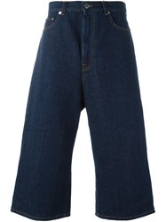 Christopher Kane Cropped Denim Trousers Blue