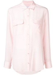 Equipment Double Chest Pocket Shirt Pink