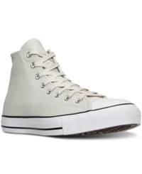 Converse Men's Chuck Taylor All Star Hi Seasonal Leather Casual Sneakers From Finish Line Buff Shadow Teal White