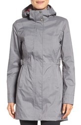 The North Face Women's Laney Trench Raincoat Tnf Medium Grey Heather