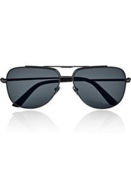 Calvin Klein Collection Metal Aviator Men's Sunglasses Black