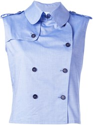 Societe Anonyme Trench Top Blue