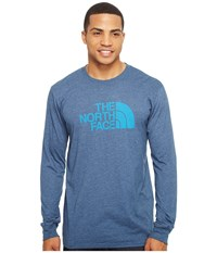 The North Face Long Sleeve Half Dome Tee Shady Blue Heather Hyper Blue Men's T Shirt