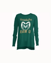 Royce Apparel Inc Women's Colorado State Rams Noelle Long Sleeve T Shirt Green