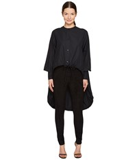 Sportmax Ricetta Runway High Low Button Up Top Black Women's Coat