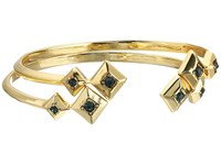 House Of Harlow The Lyra Cuff Bracelet Set Gold Blue Bracelet