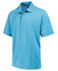 Greg Norman For Tasso Elba Men's 5 Iron Performance Golf Polo Vivid Turq