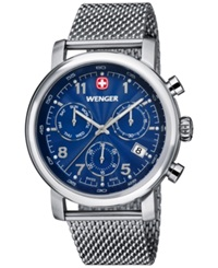 Wenger Men's Swiss Chronograph Urban Classic Stainless Steel Mesh Bracelet Watch 43Mm 01.1043.101