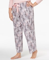 Alfani Plus Size Printed Flannel Pajama Pants Only At Macy's Winter Trees