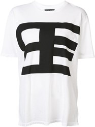 Baja East Logo Print T Shirt White