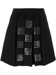 Versus Studded Pleated Front Skirt Black